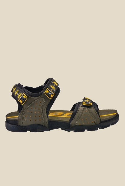 Sparx Olive & Yellow Floater Sandals