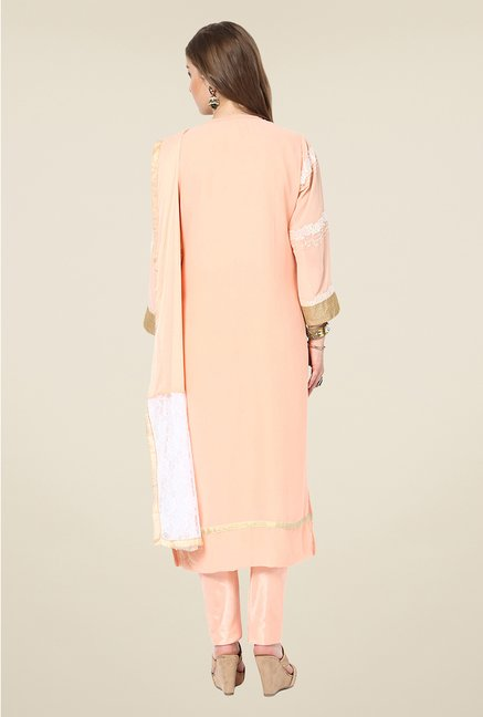 Yepme Sakui Light Pink Unstitched Suit Set