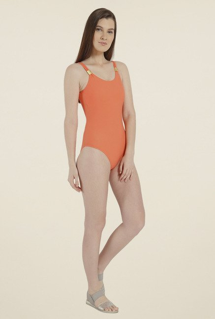 Vero Moda Orange Solid Swimsuit
