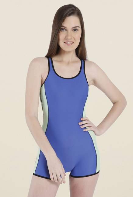 Vero Moda Blue Solid Swimsuit