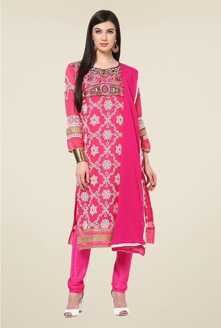 Yepme Cadence Pink Unstitched Suit Set