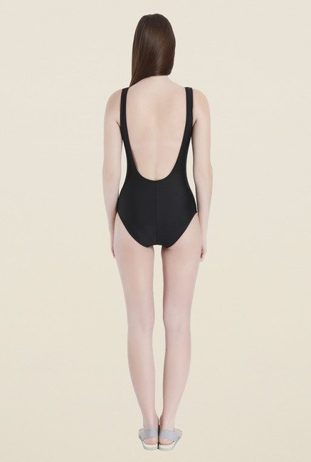 Vero Moda Black Printed Swimsuit