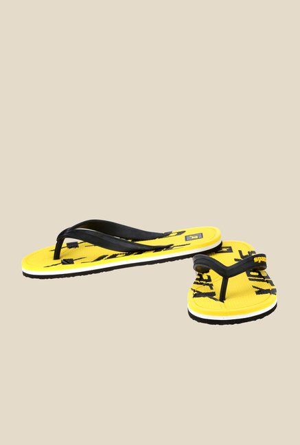 Sparx Black & Yellow Flip Flops