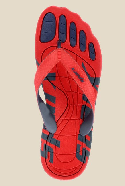 Sparx Red & Navy Flip Flops