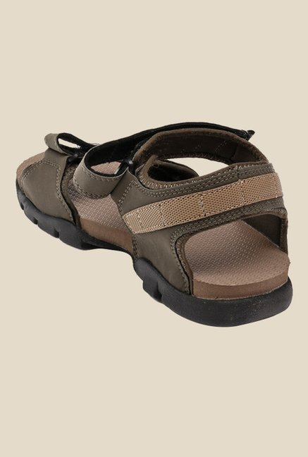 Sparx Olive & Camel Floater Sandals