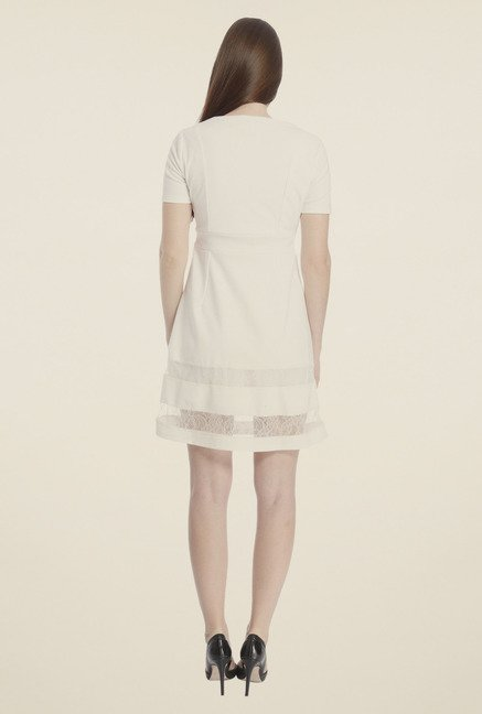 Vero Moda White A-Line Dress