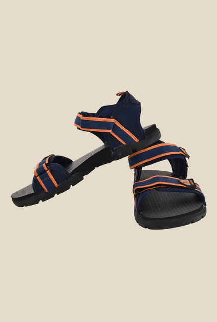 Sparx Navy & Orange Floater Sandals