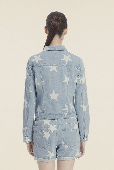 Vero Moda Blue Printed Jacket