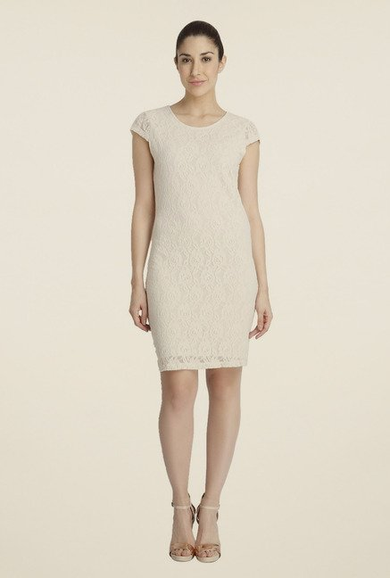 Vero Moda Beige Shift Dress
