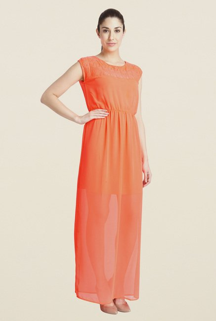 Vero Moda Orange Empire-line Dress