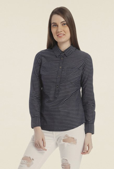 Vero Moda Navy Striped Top