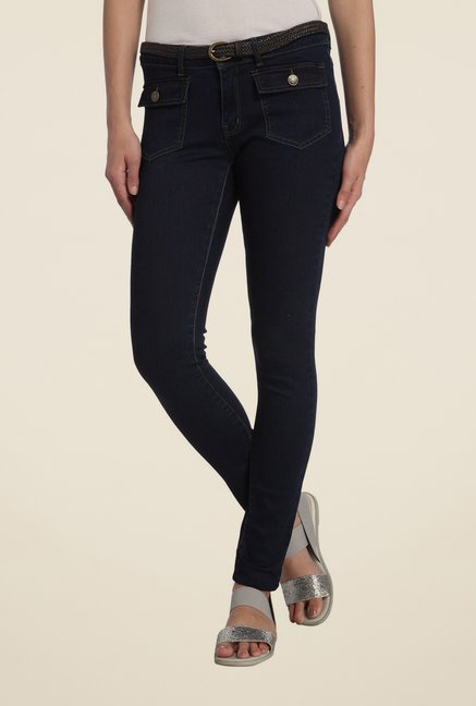 Vero Moda Navy Raw Denim Jeans
