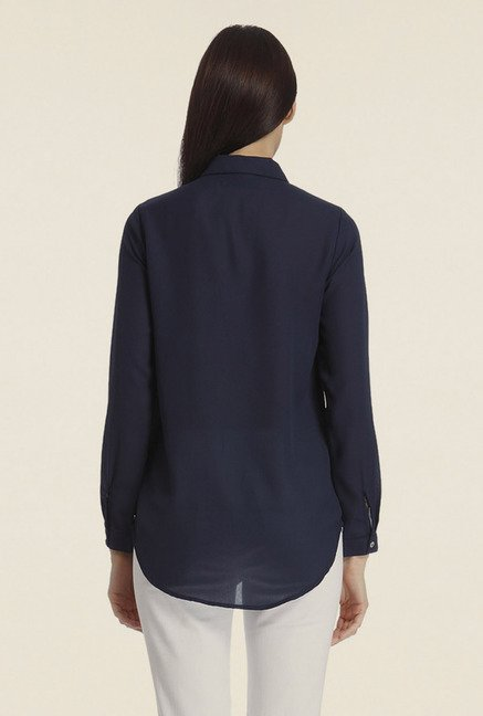 Vero Moda Navy Solid Shirt