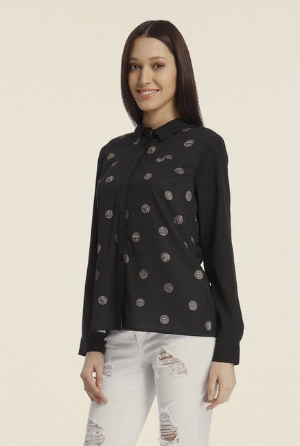 Vero Moda Black Printed Shirt