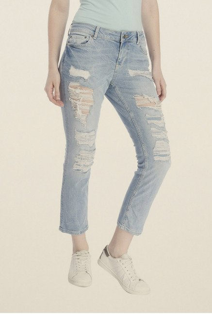 Vero Moda Light Blue Ripped Jeans