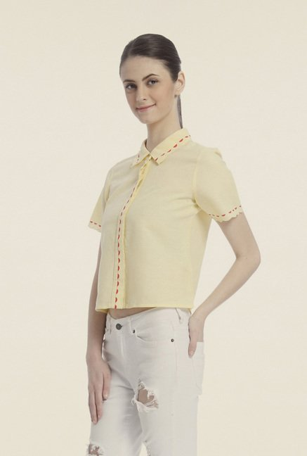 Vero Moda Yellow Solid Shirt