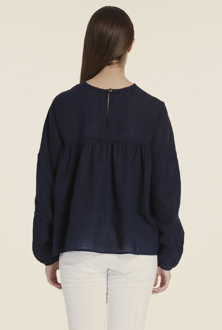 Only Navy Solid Top