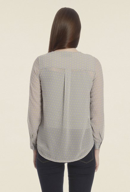 Vero Moda Grey Polka Dot Top