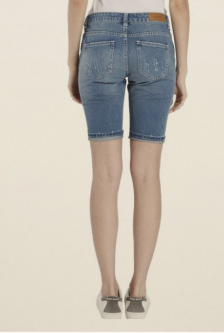 Vero Moda Dark Blue Distressed Shorts