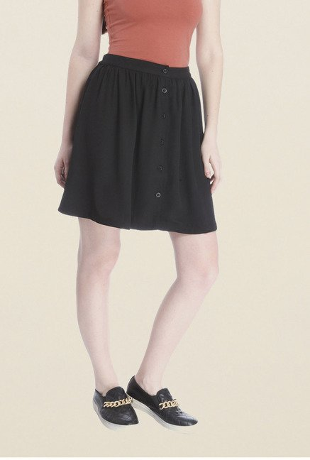 Vero Moda Black Solid Skirt