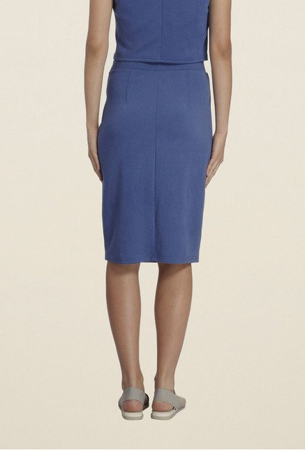 Vero Moda Dark Blue Solid Skirt