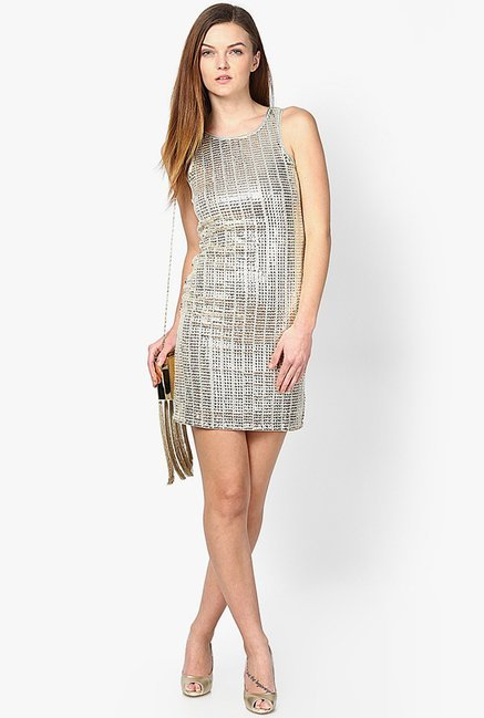 Only Silver Embellished Dress