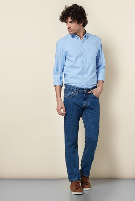 Levi's Blue Skinny Straight Fit Jeans