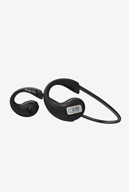 Anglink Bluetooth Headphones Fitness Pedometer Tracker Black