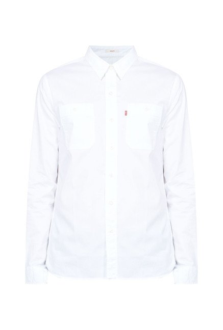 Levi's White Cotton Shirt