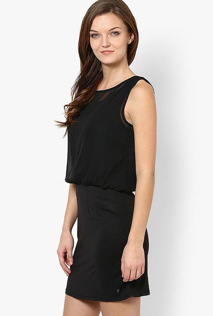 Only Black Solid Dress