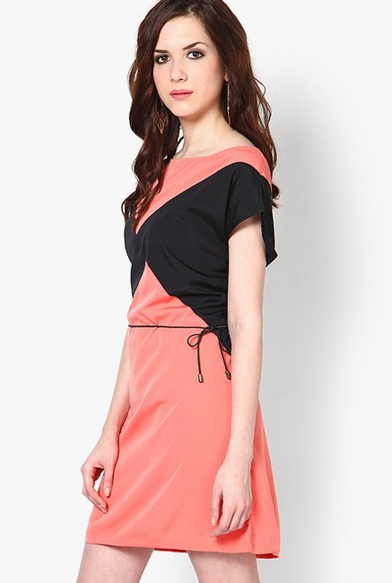 Only Peach Solid Dress