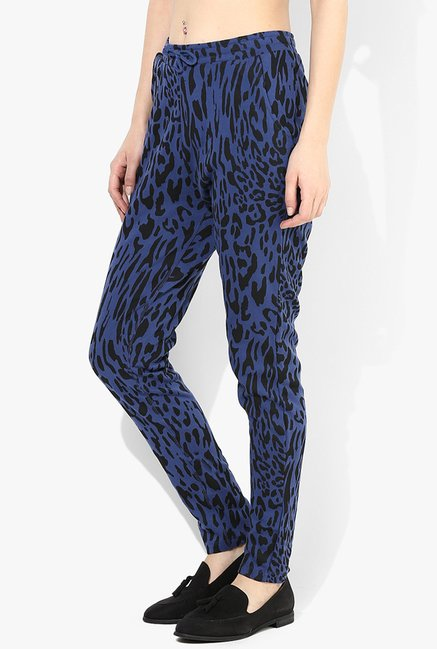 Only Blue Printed Trousers