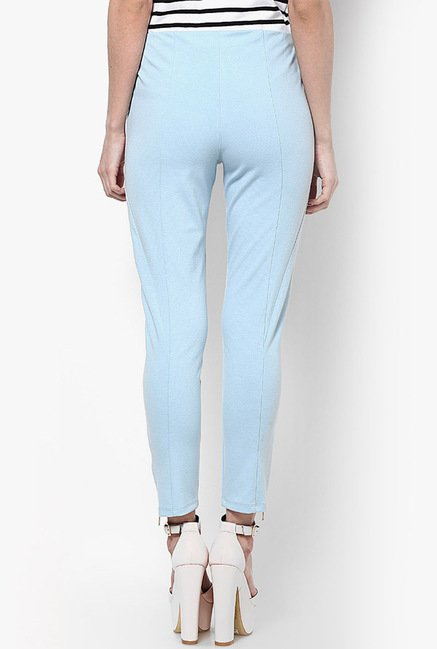 Only Sky Blue Solid Chinos