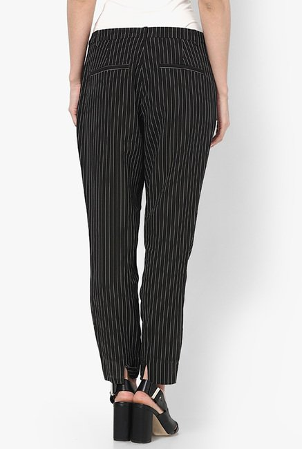 Only Black Pin Striped Chinos