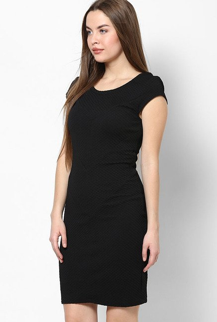 Only Black Textured Dress