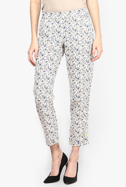 Only White Floral Print Chinos