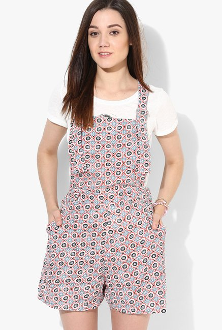 Only Multicolor Printed Dungaree