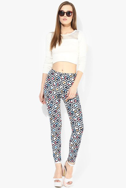 Only Black & White Printed Jeggings