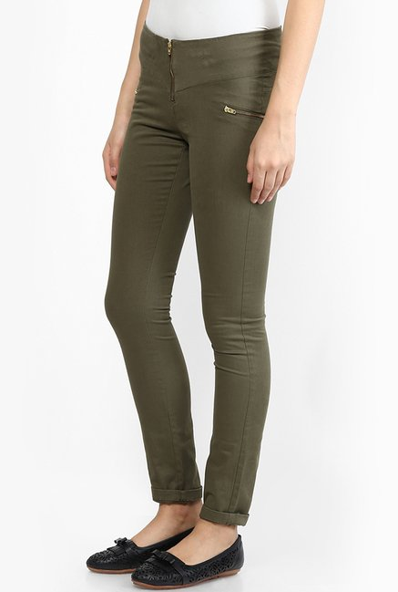 Only Ivy Green Skinny Fit Jeggings