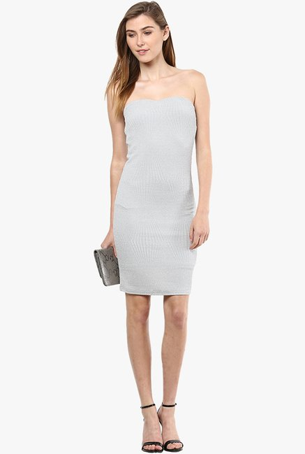 Only Light Grey Solid Dress