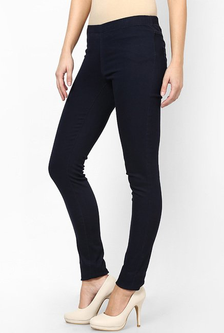 Only Navy Solid Jeggings