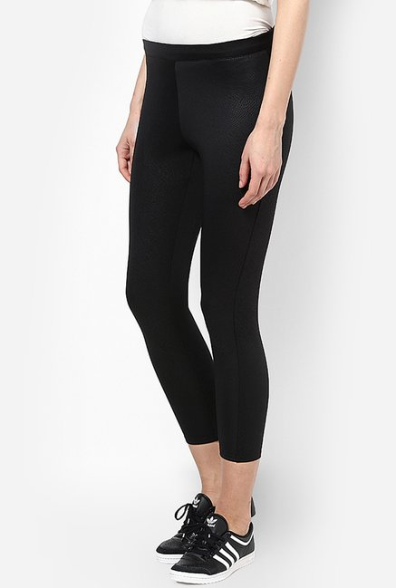 Only Black Printed Skinny Fit Leggings