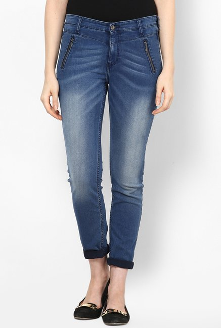 Only Blue Solid Jeans