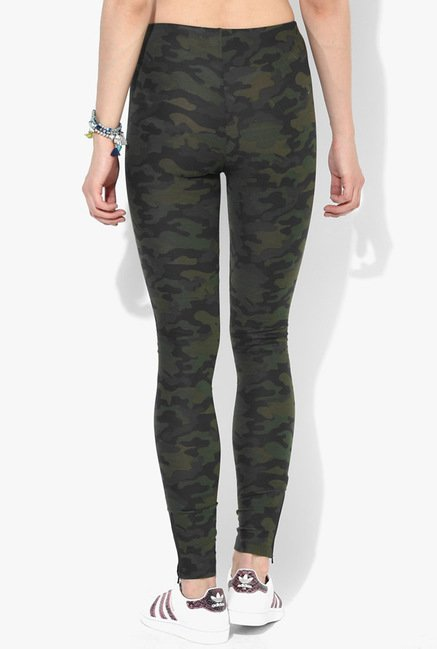 Only Green Camo Print Leggings