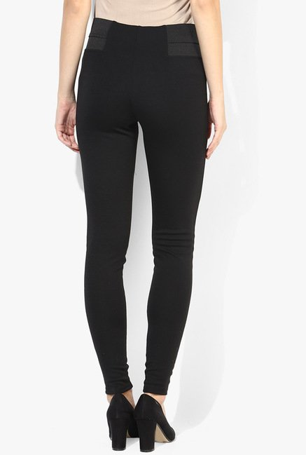 Only Black Solid Leggings