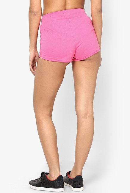 Only Pink Solid Shorts