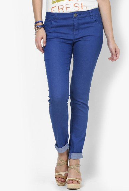 Only Dark Blue Solid Jeans
