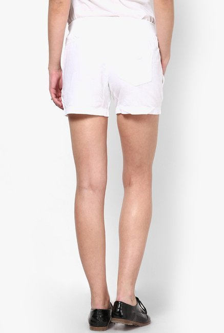 Only White Solid Shorts