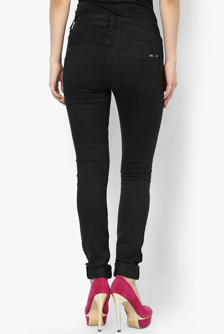 Only Black Solid Jeans
