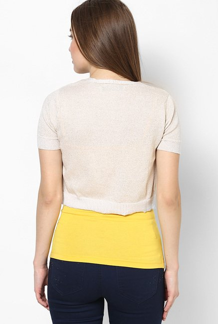 Only Beige Solid Shrug